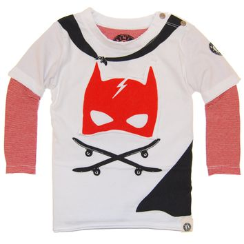 Caped Super Hero Twofer Baby T-Shirt by: Mini Shatsu