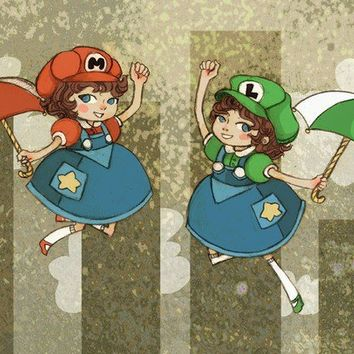 The Mario Sisters by theGorgonist on Etsy
