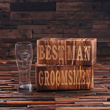 Personalized Pilsner Beer Glass with Keepsake Box – 24 oz.