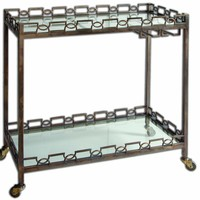 Nicoline Iron Serving Cart by Uttermost