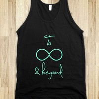 To Infinity and Beyond Tiffany-Unisex Black Tank