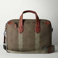 Rag & Bone - Derby Briefcase, Black Olive Size 1