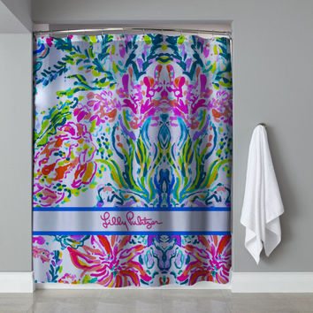 "New Hot Lilly pulitzer Coral Corolful Custom Design Shower Curtain 60""x72"""