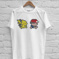 Ash and Pikachu pokemon T-shirt Men, Women, Youth and Toddler