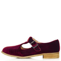 MOLLY2 VELVET T-BAR GEEK SHOES