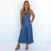 Lucky Day Chambray Jumpsuit