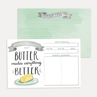 Butter Makes Everything Better Recipe Card Pack