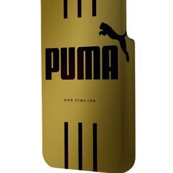 best 3d full wrap phone case hard pc cover with puma gold design  number 1