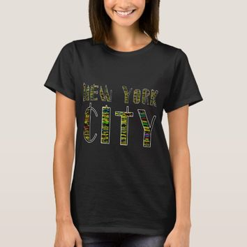 New York City Night funny colorful unique T-Shirt