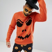 ASOS Halloween Pumpkin Sweater at asos.com