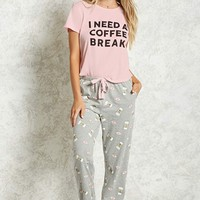 Coffee Break PJ Set