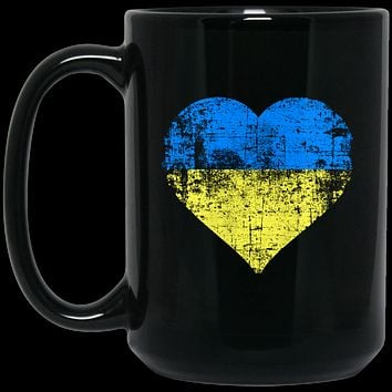 Ukrainian Heart Coffee Mug - Ukrainian Flag, Ukraina