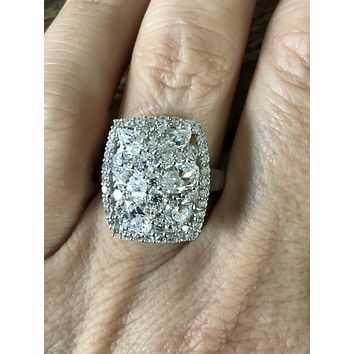 A Perfect 4.32TCW Round Cut Russian Lab Diamond Ring
