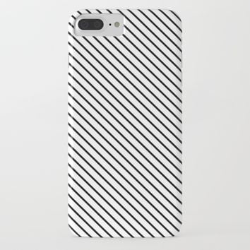 Classic Diagonal Pinstripes iPhone & iPod Case by New Wave Studio