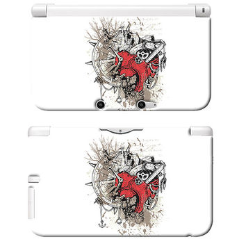Steampunk Heart Art Print Nintendo 3DS XL Plastic Case Retro Modern