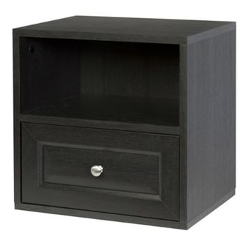 Storage Cube with Drawer - Espresso