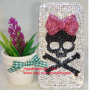 Sexy cute skull iphone 5s case iphone 5c case iphone 4 iphone 4s iphone 5 bling samsung galaxy s4 case s2 s3 mini note 2 3 mega 5.8 mega 6.3