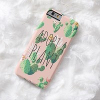 Adopt a Plant funny crazy plant lady cactus garden iPhone 8/7 Case