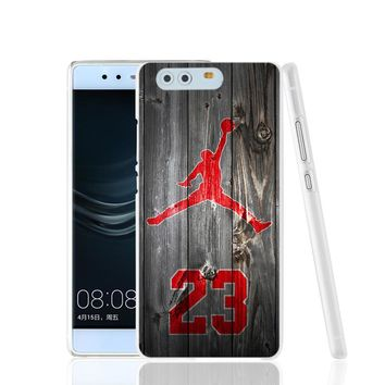 19512 air jordan 23 wood cell phone Cover Case for huawei Ascend P7 P8 P9 lite mini Ma