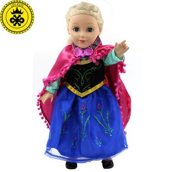 """Handmad 18 inch American Girl Doll Clothes Princess Anna Elsa Dress Fits 18"""" American Girl Doll 5 Style Options D-6"""