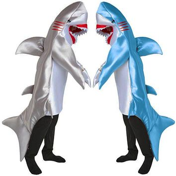 Deluxe Quality Adult Men Blue And Grey Shark Bruce From Pixar Animated Film Finding Nemo Halloween Comfortable Cosplay Costume