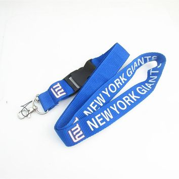 New York Giants Football Keychain Lanyard Neck Strap Key Ring For ID Pass Card Badge Gym Key Mobile Phone USB Holder Lanyard