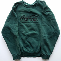 Vintage Coca Cola Distressed Thrashed Crewneck Sweatshirt