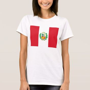 Women T Shirt with Flag of Peru