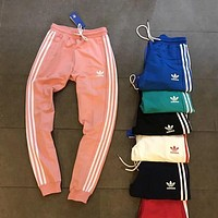 ADIDAS Classic Trending Woman Men Stylish Three Stripes Running Pants Trousers Sweatpants