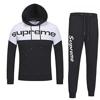 Boys & Men Supreme Top Sweater Pullover Hoodie Pants Trousers Set Two-Piece
