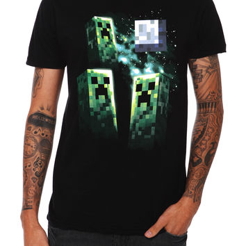 Jinx Minecraft Creeper Moon T-Shirt