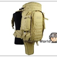 Tactical Military USMC Army Molle Extended Full Gear Combat Dual Sgun Paintball Rifle Backpack For Hunting Fishing Camping^^