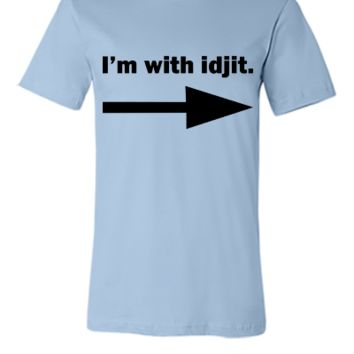 I'm with idjit - Supernatural - Bobby Singer - Unisex T-shirt