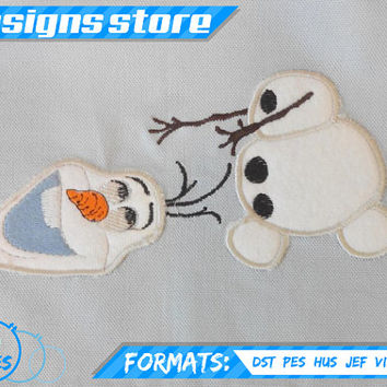 OLAF APPLIQUE embroidery Machine design Pattern FROZEN