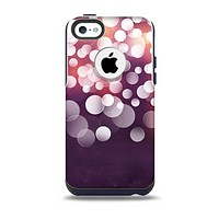 The Dark Purple with Glistening Unfocused Light Skin for the iPhone 5c OtterBox Commuter Case