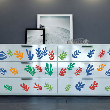 "Furniture pattern inspired by Henri Matisse's ""La Gerbe"" vinyl decals for your decor hack - ideal for dressers, IKEA closets, cabinets etc"