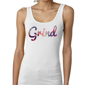 Grind Tank Top | Hustle on the Grind Shirt | Hip Hop Cosmic Tank