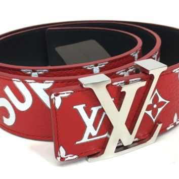 Louis Vuitton x Supreme 17AW Initiales 15.7 inch Saint-Cul Belt MP015 Used Rare