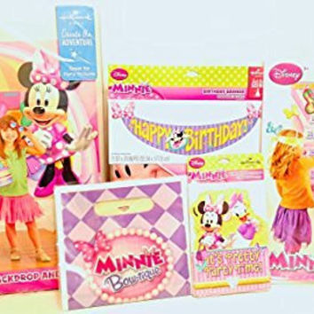 Minnie Mouse Decoration & Invitation Pack