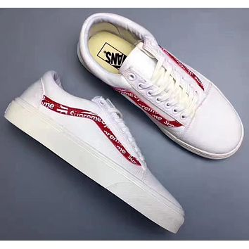 Trendsetter Vans x Supreme Flats Sneakers Sport Shoes