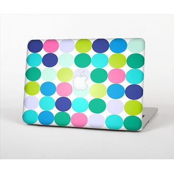 The Vibrant Colored Polka Dot V2 Skin Set for the Apple MacBook Pro 15""