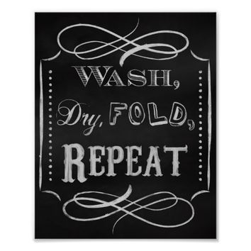 Laundry room print, Chalk art prints chalkboard