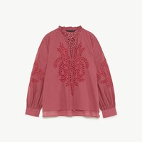 EMBROIDERED BLOUSE DETAILS