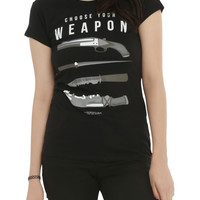 Supernatural Choose Your Weapon Girls T-Shirt