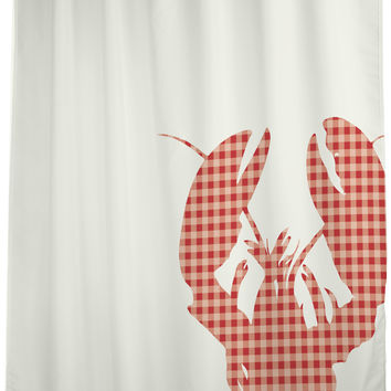 Plaid Lobster - Red Shower Curtain by OneBellaCasa.com