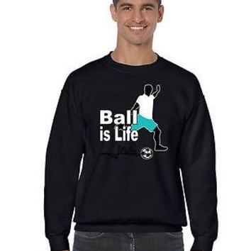 Soccer Ball Is Life Men's Crewneck Sweatshirt