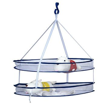 Useful High Quality 2 layers Folding Drying Rack Hanging Clothes Laundry Sweater Basket Dryer Net Dropshipping