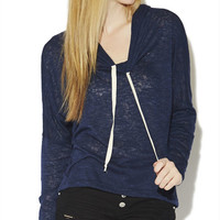 Contrast Drawsting Hoodie Sweatshirt | Wet Seal