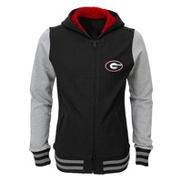 Georgia Bulldogs Varsity Hoodie Jacket - Girls 7-16, Size: