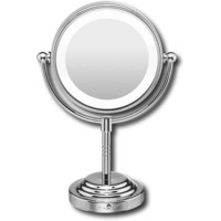 Conair - Classique Collection Double-Sided Lighted Makeup Mirror - Chrome